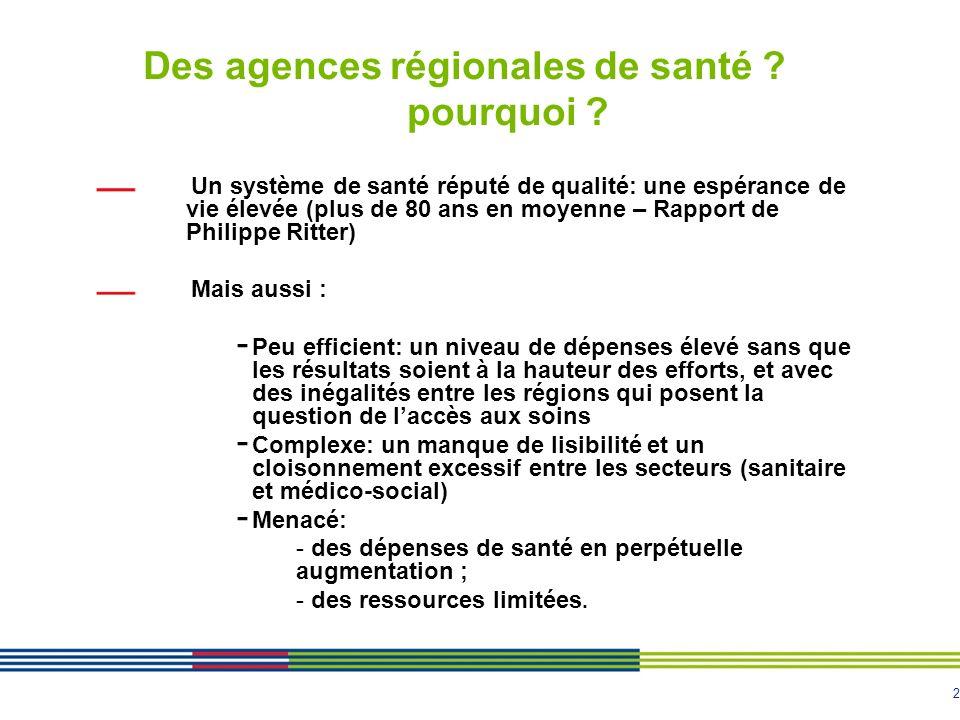 Des agences régionales de santé pourquoi