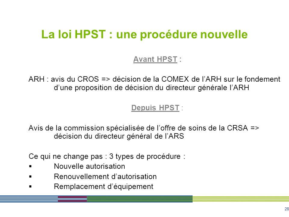 La loi HPST : une procédure nouvelle