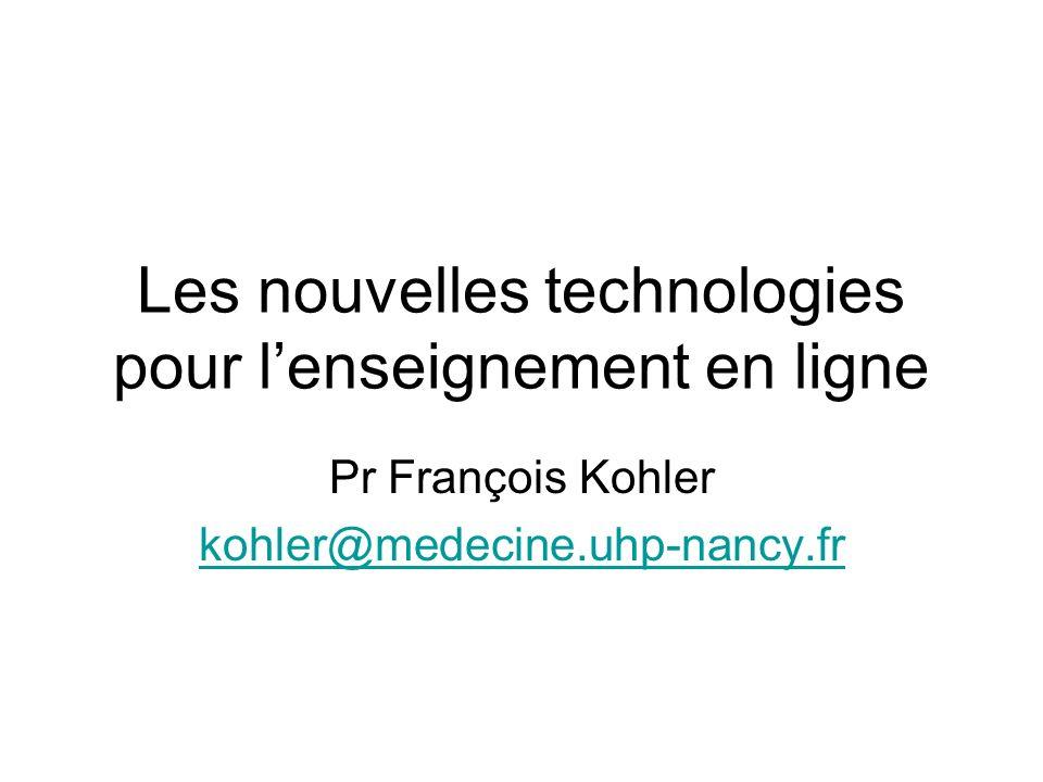 Les nouvelles technologies pour l'enseignement en ligne