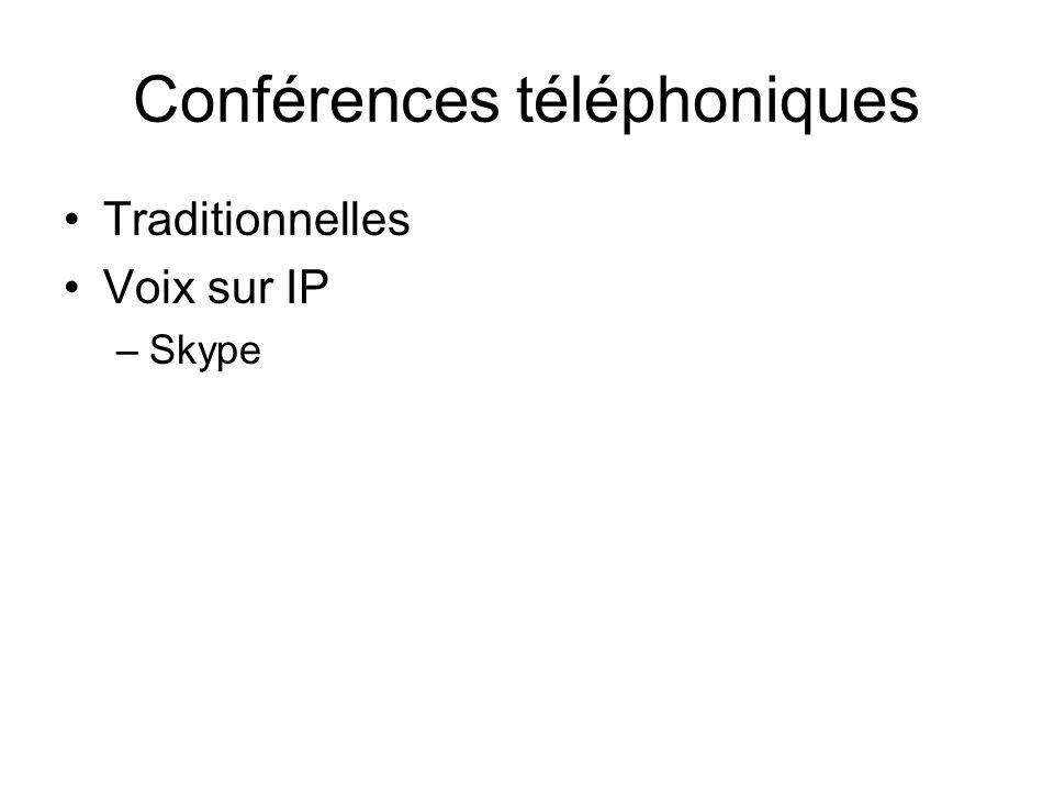Conférences téléphoniques