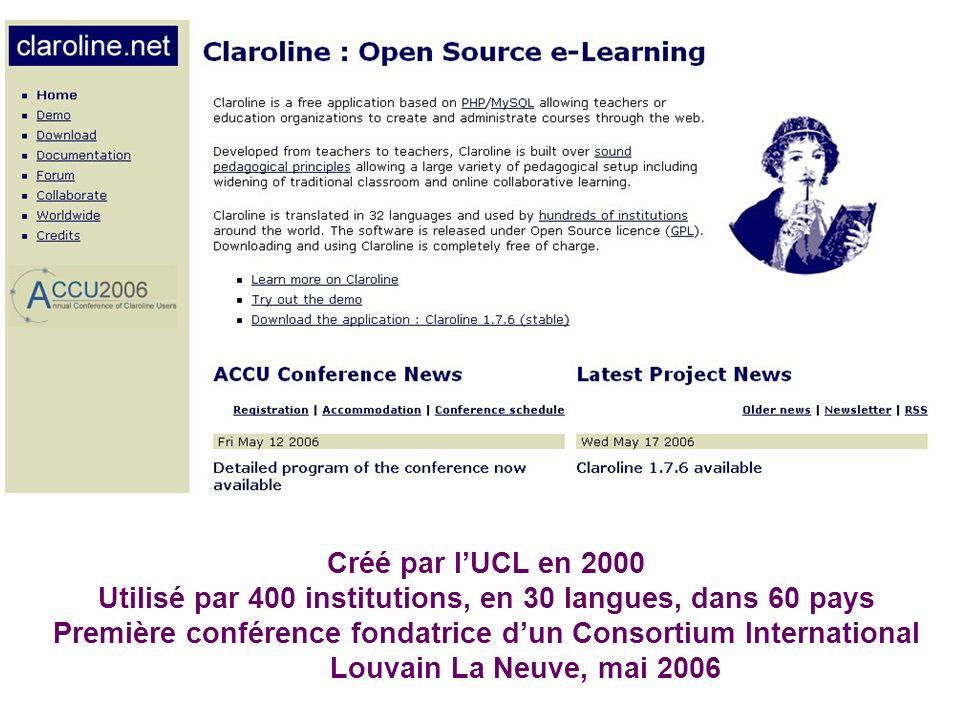 Utilisé par 400 institutions, en 30 langues, dans 60 pays