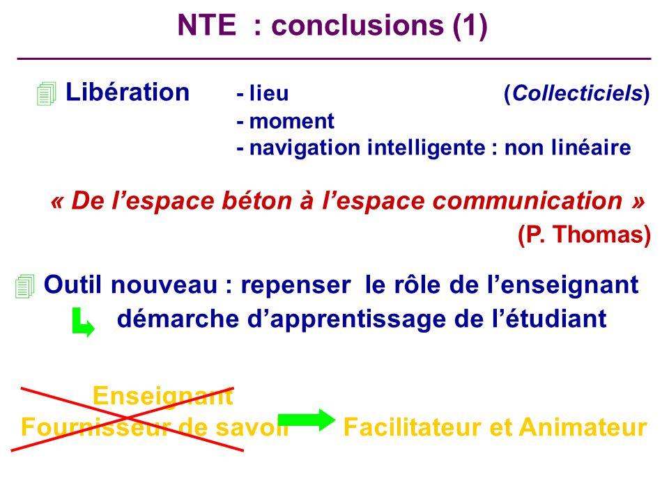 NTE : conclusions (1) (P. Thomas) Libération - lieu (Collecticiels)