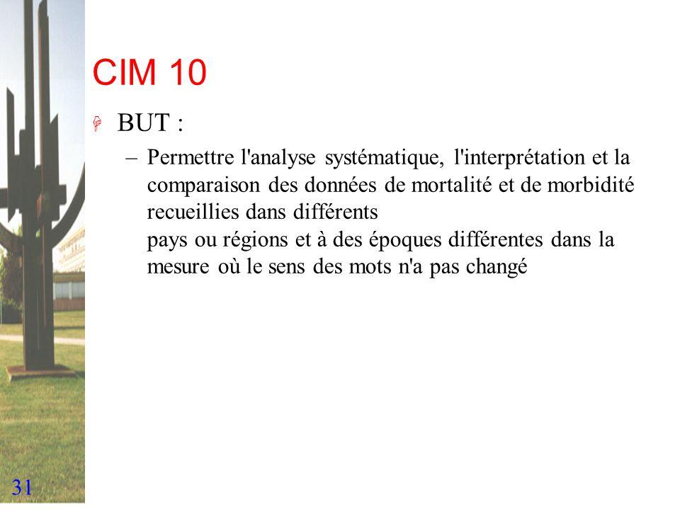 CIM 10 BUT :