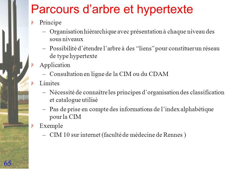 Parcours d'arbre et hypertexte