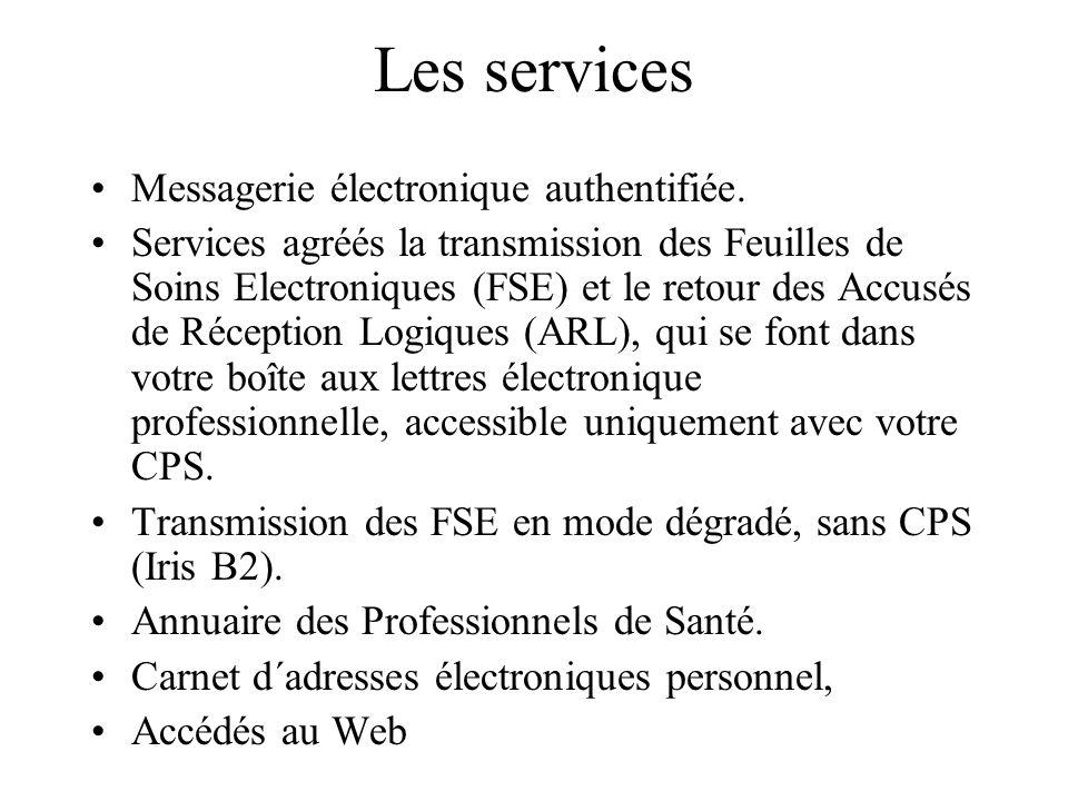 Les services Messagerie électronique authentifiée.