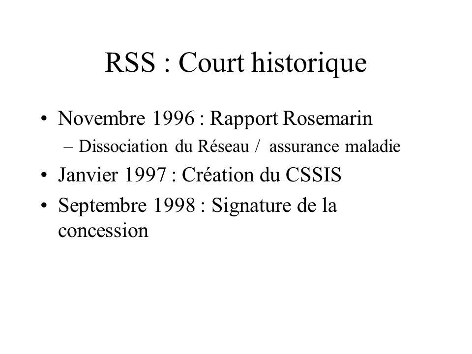 RSS : Court historique Novembre 1996 : Rapport Rosemarin