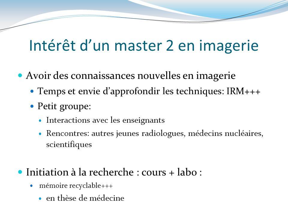 Intérêt d'un master 2 en imagerie