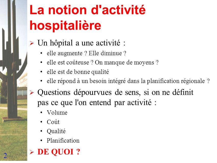 La notion d activité hospitalière