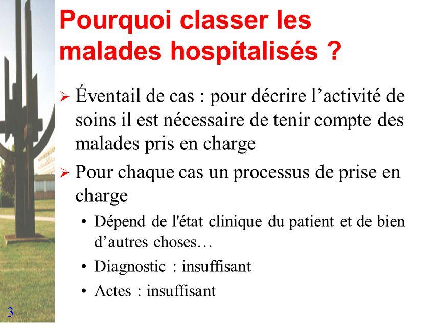 Pourquoi classer les malades hospitalisés