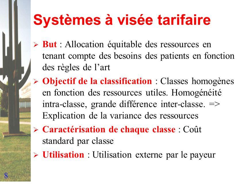 Systèmes à visée tarifaire