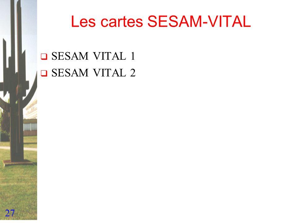 Les cartes SESAM-VITAL