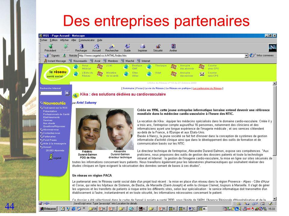 Des entreprises partenaires