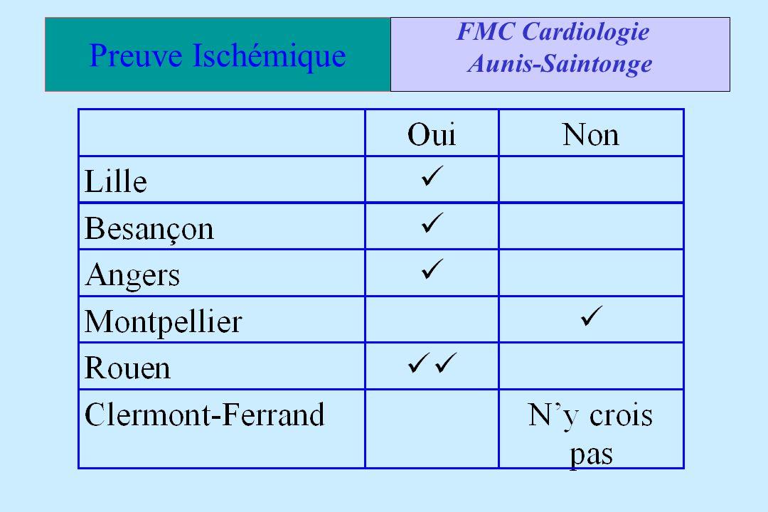 FMC Cardiologie Aunis-Saintonge Preuve Ischémique