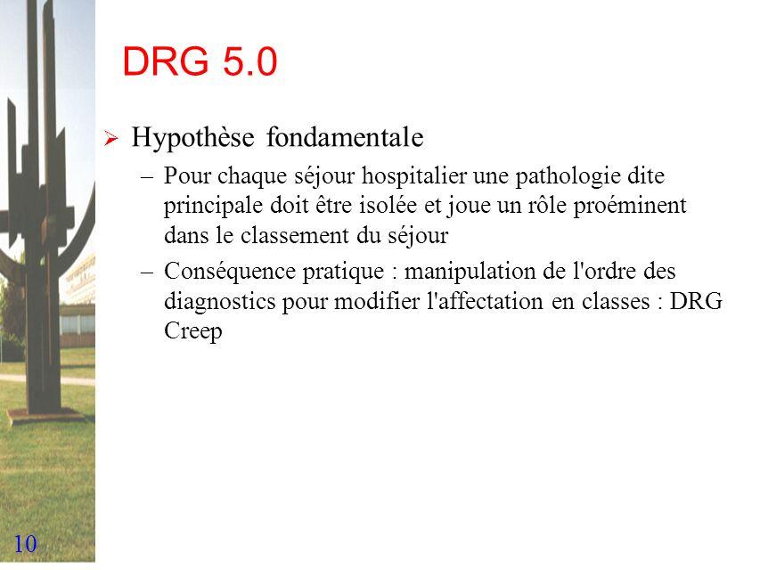 DRG 5.0 Hypothèse fondamentale