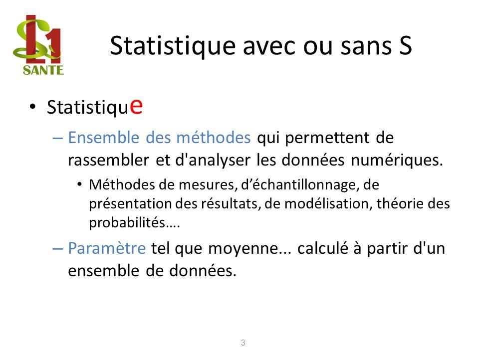 Statistique avec ou sans S