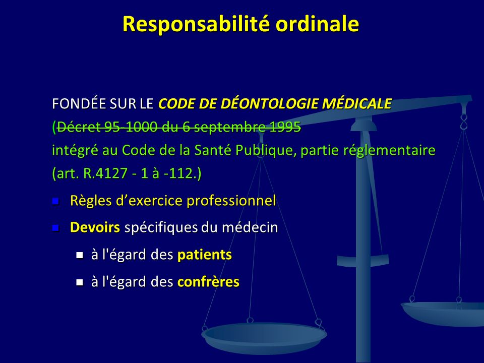 Responsabilité ordinale