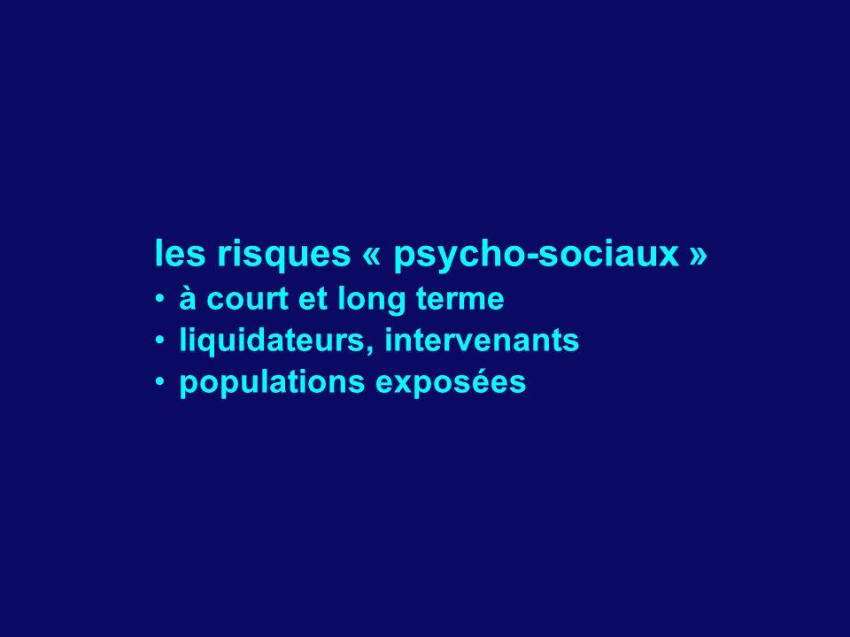 les risques « psycho-sociaux »