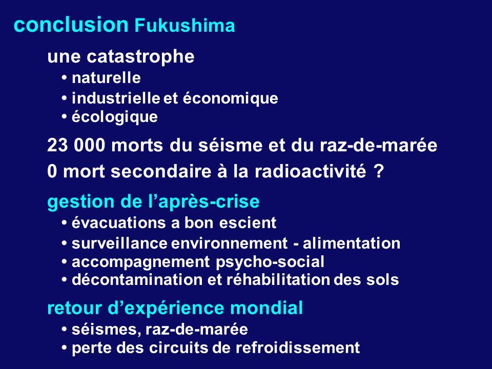 conclusion Fukushima une catastrophe • naturelle