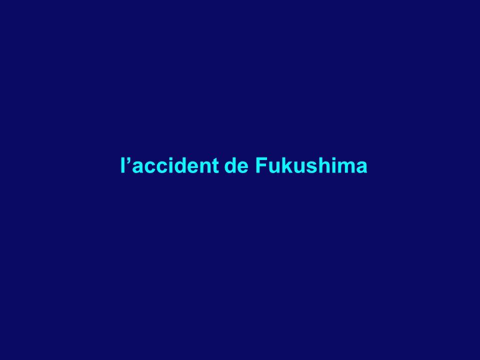 l'accident de Fukushima