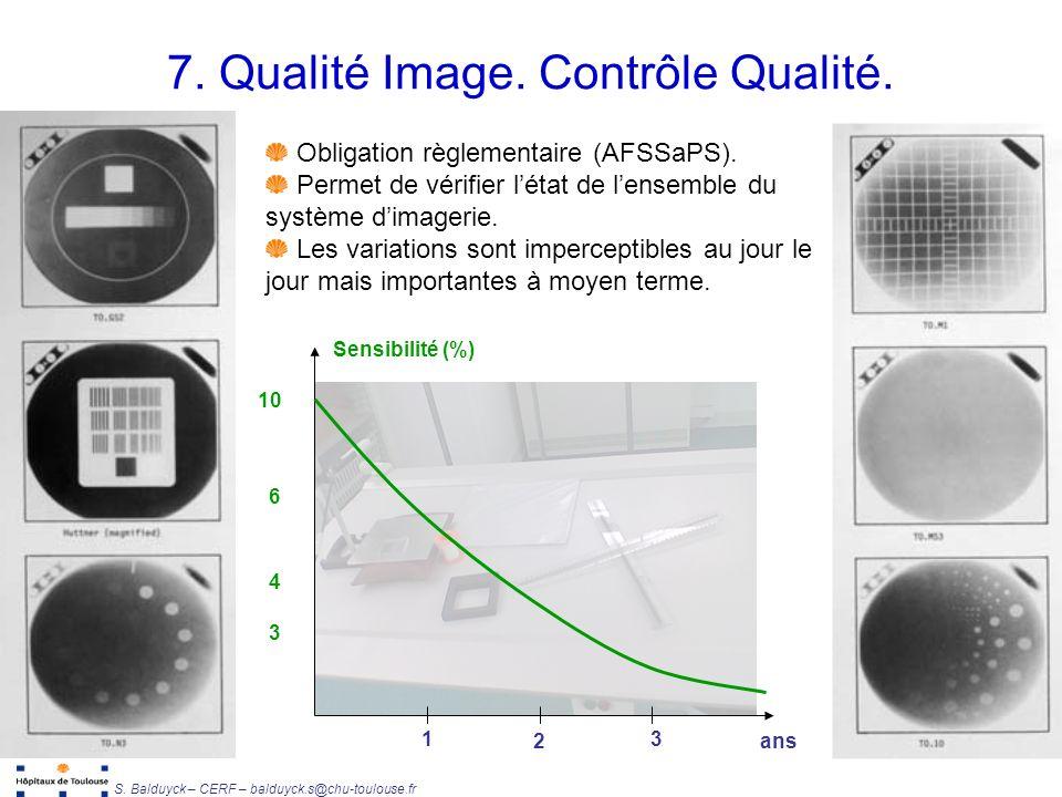 7. Qualité Image. Contrôle Qualité.