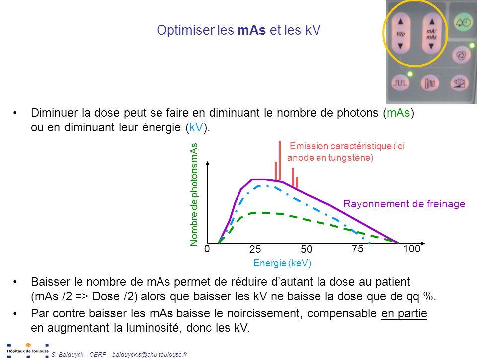 Optimiser les mAs et les kV