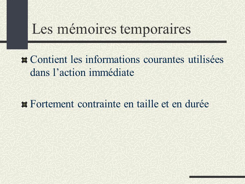 Les mémoires temporaires