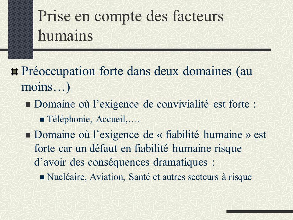 Prise en compte des facteurs humains