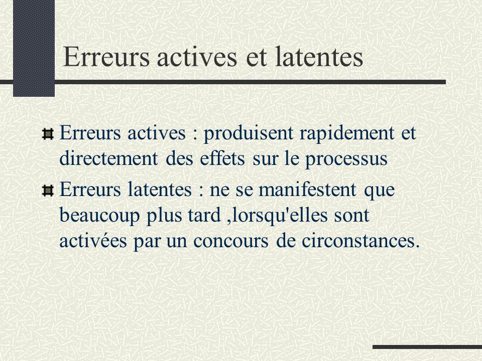 Erreurs actives et latentes