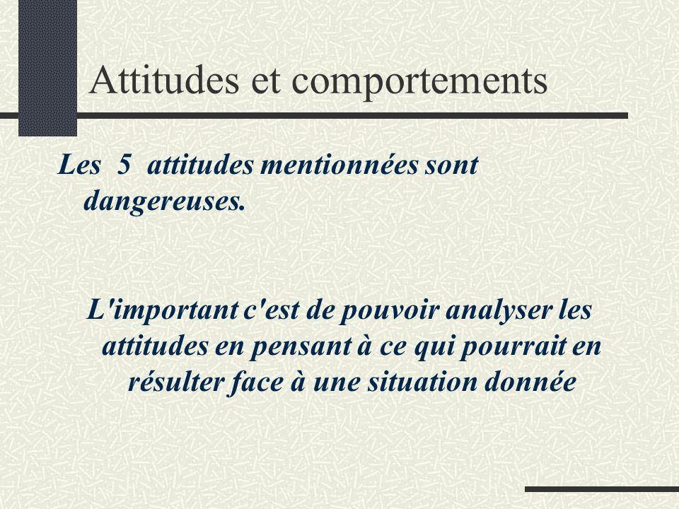 Attitudes et comportements