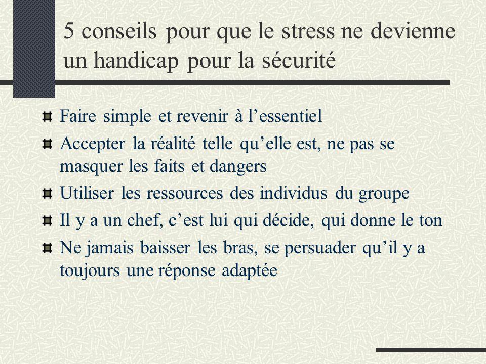 5 conseils pour que le stress ne devienne un handicap pour la sécurité
