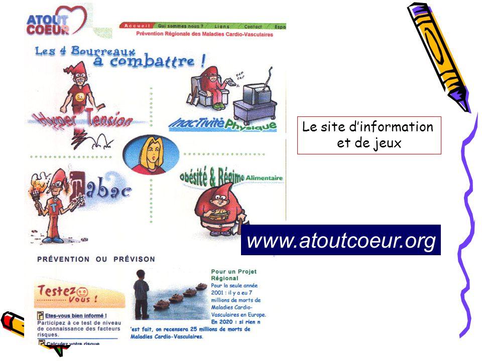 Le site d'information et de jeux www.atoutcoeur.org