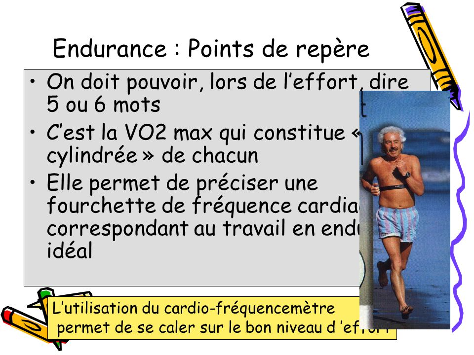 Endurance : Points de repère