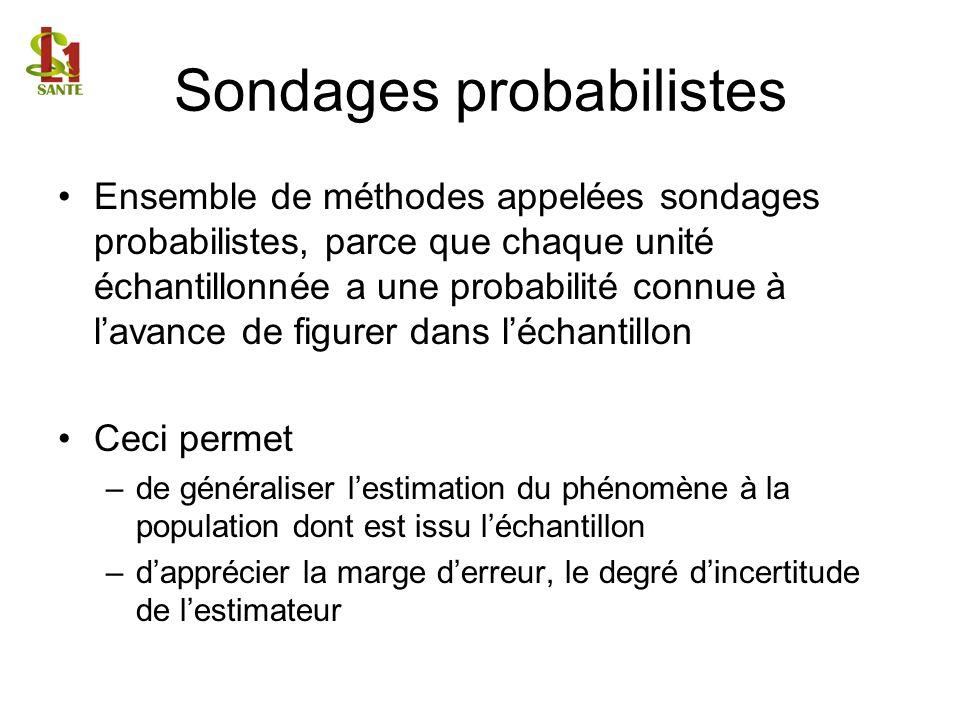 Sondages probabilistes