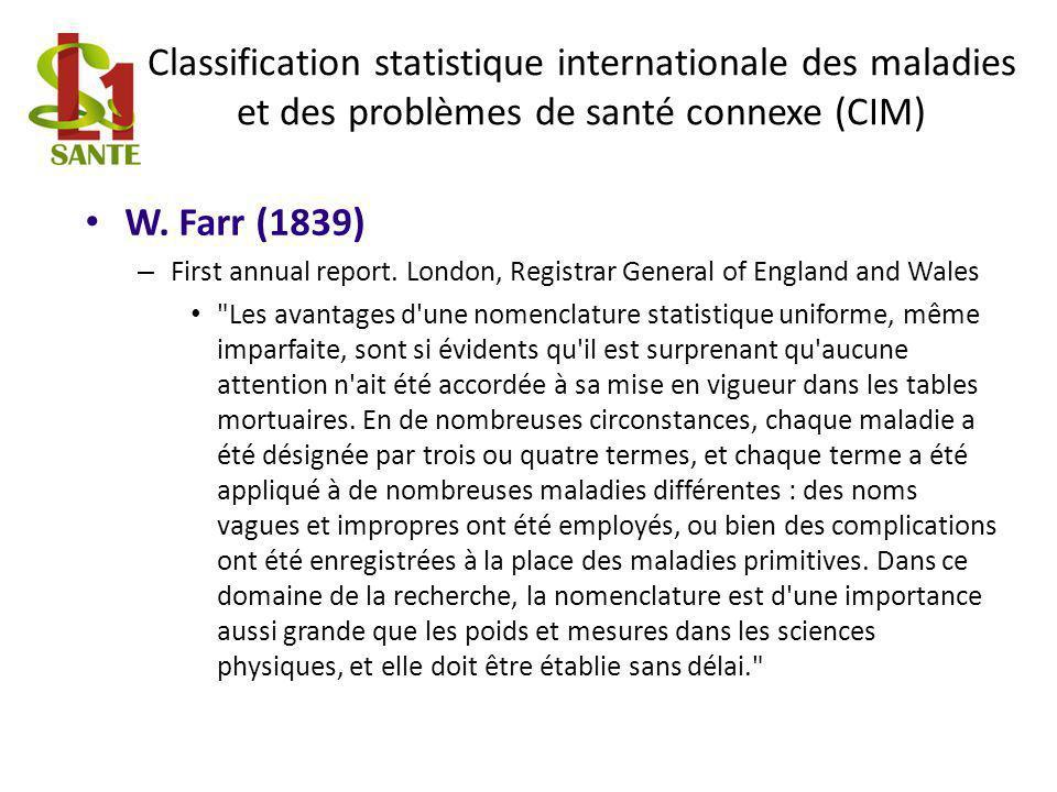 Classification statistique internationale des maladies et des problèmes de santé connexe (CIM)