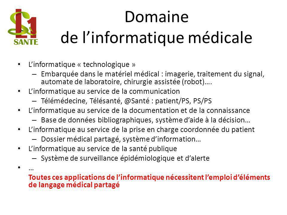 Domaine de l'informatique médicale