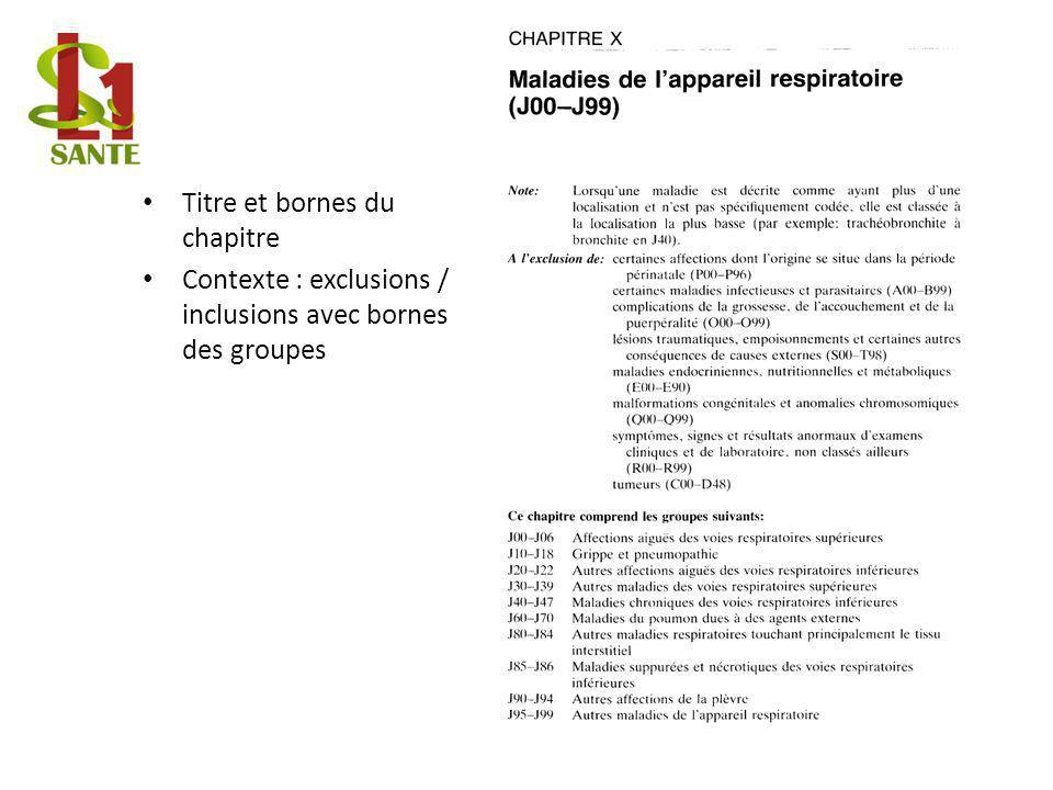 Exemple Titre et bornes du chapitre
