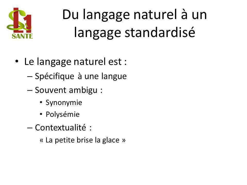 Du langage naturel à un langage standardisé