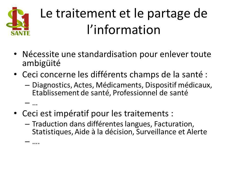 Le traitement et le partage de l'information