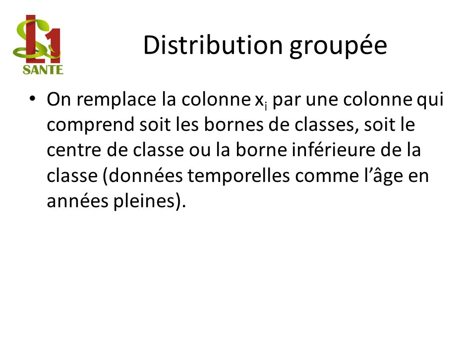 Distribution groupée
