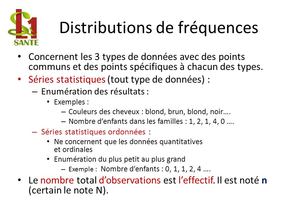 Distributions de fréquences