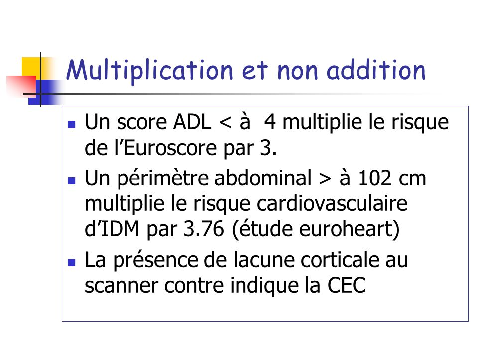 Multiplication et non addition