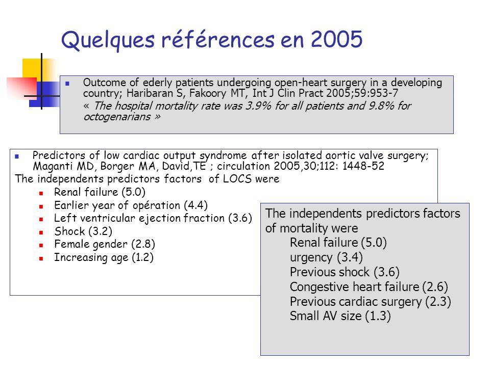 Quelques références en 2005