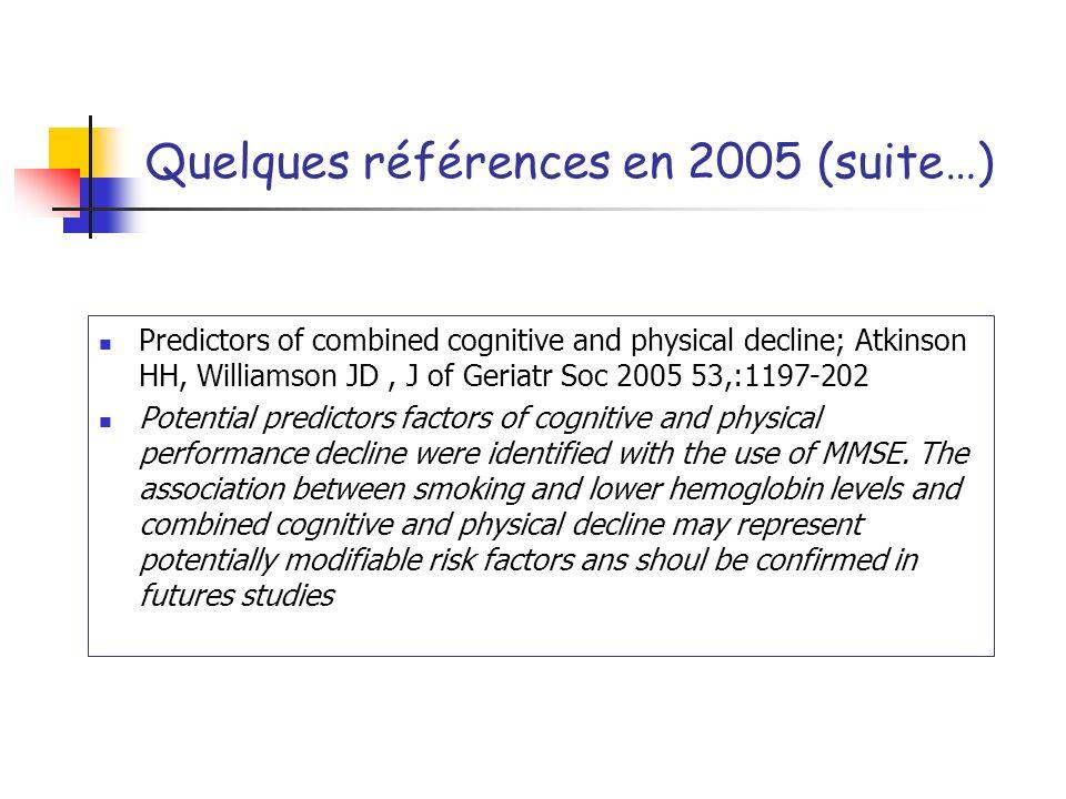 Quelques références en 2005 (suite…)