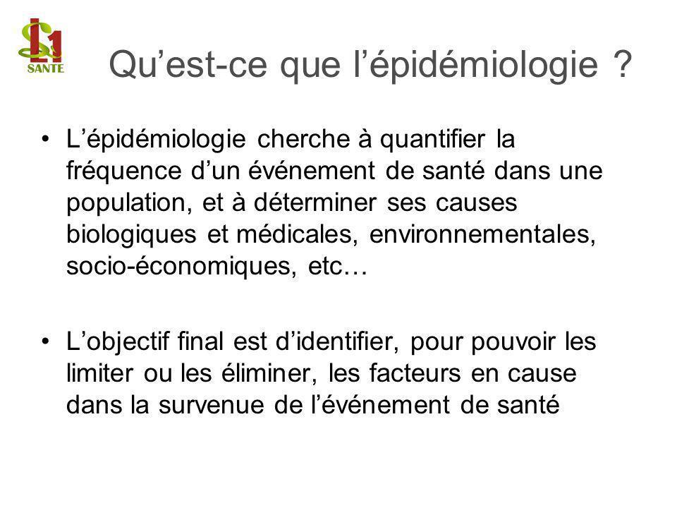 Qu'est-ce que l'épidémiologie