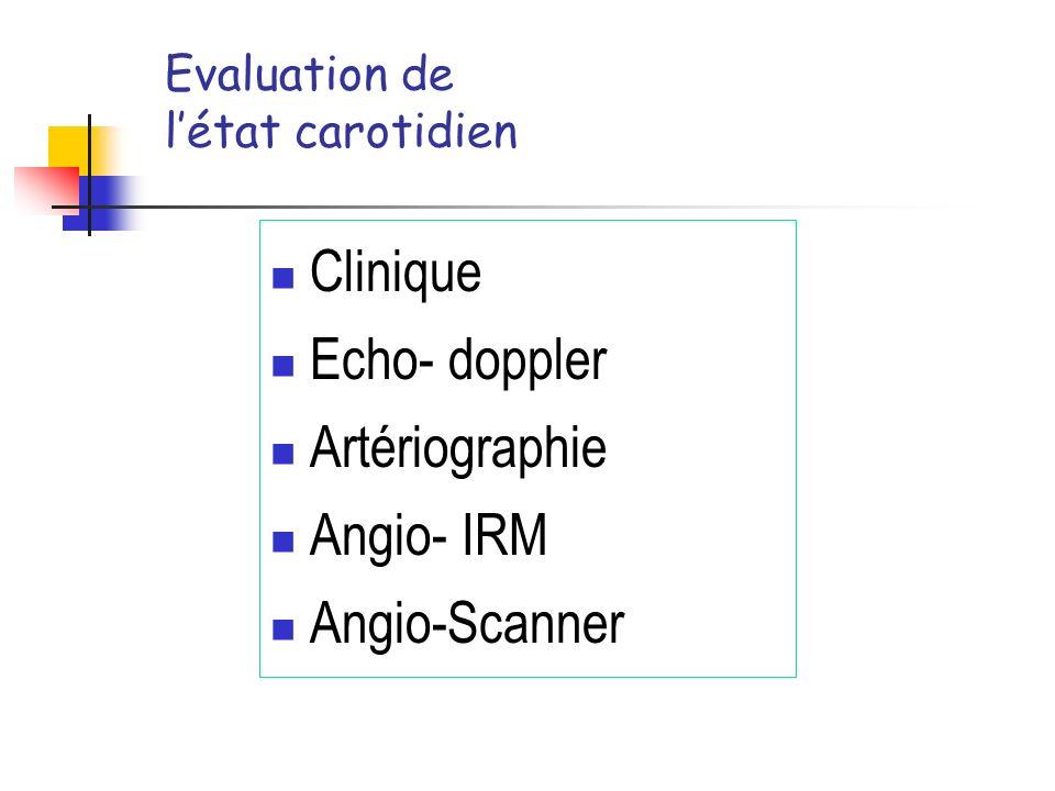 Evaluation de l'état carotidien