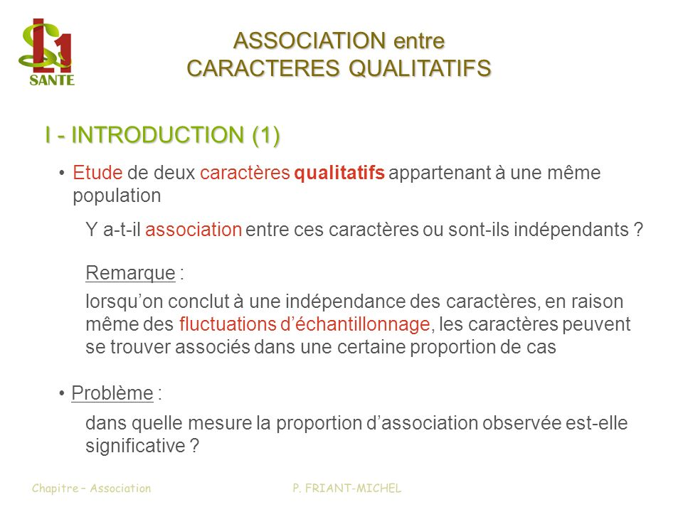 CARACTERES QUALITATIFS