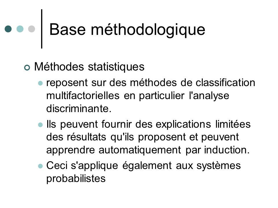 Base méthodologique Méthodes statistiques