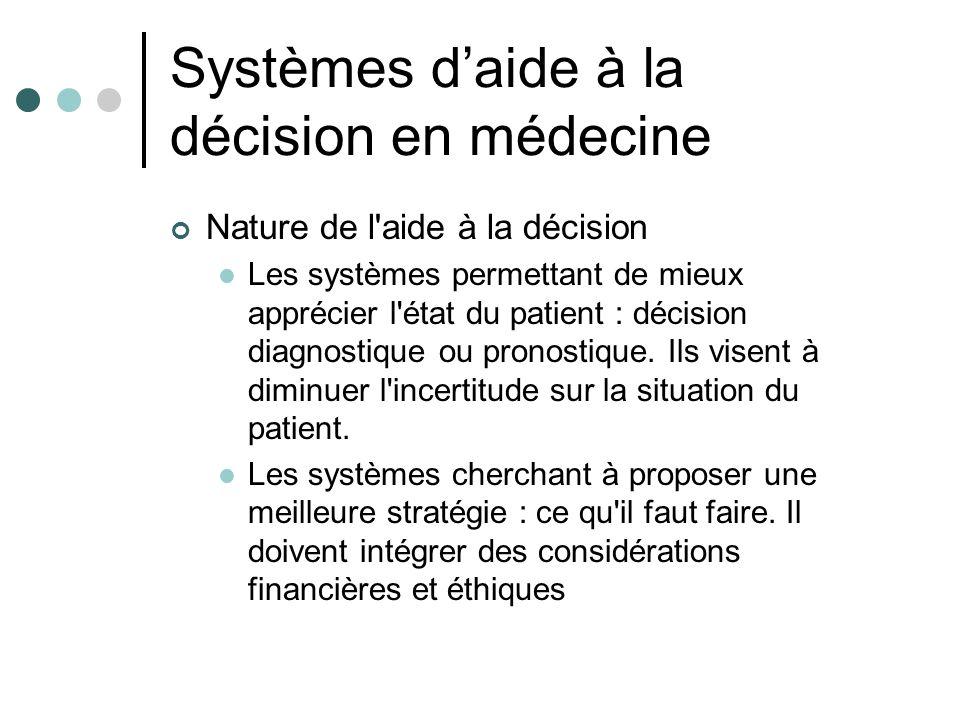 Systèmes d'aide à la décision en médecine