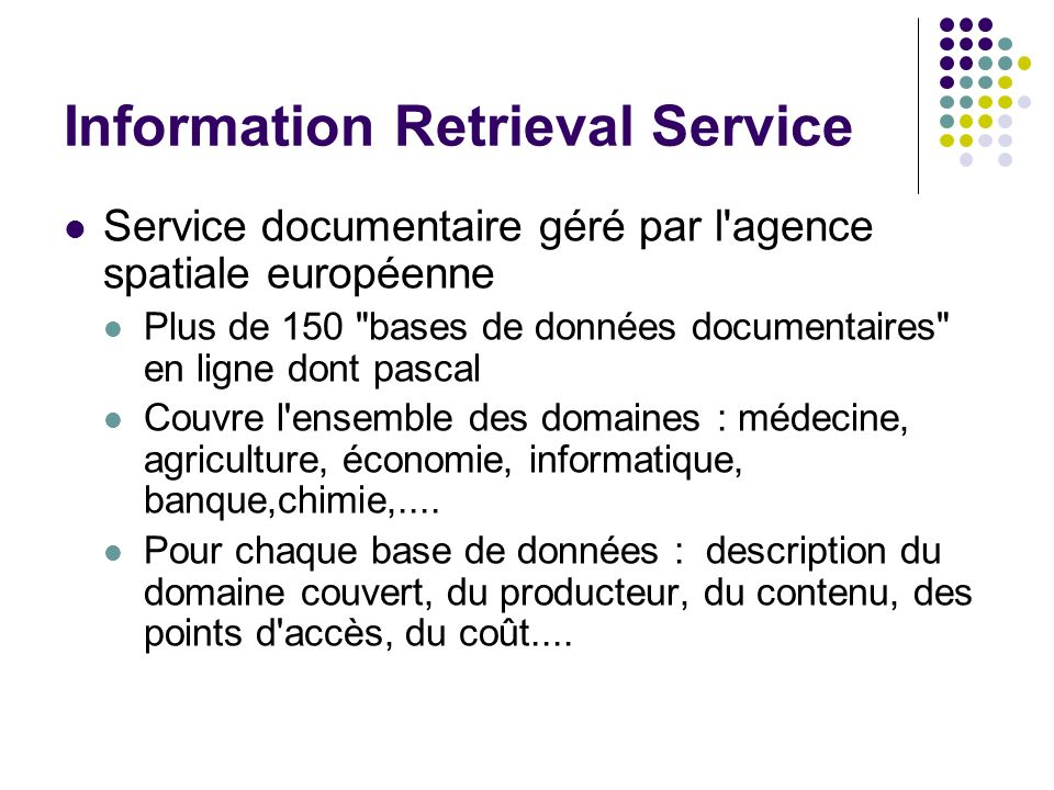 Information Retrieval Service