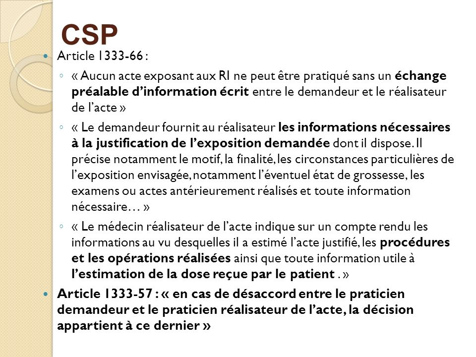 CSP Article 1333-66 :